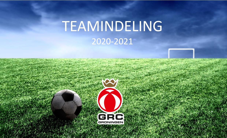 Teamindeling JO17-1 & JO17-2 seizoen 2020-2021