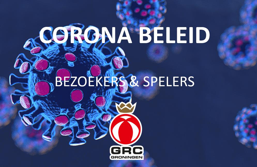 GRC Groningen -  Corona beleid bezoekers & spelers