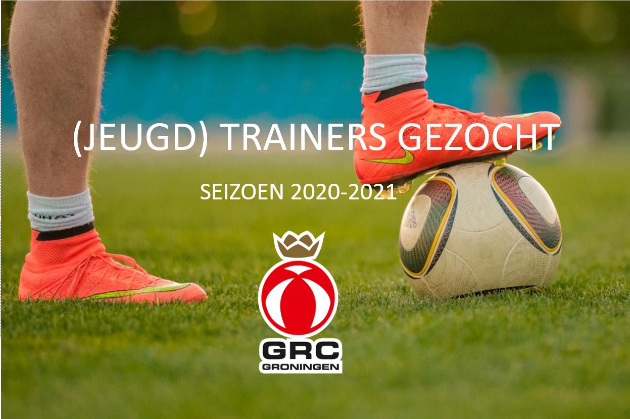 Trainers gezocht voor seizoen 2020-2021